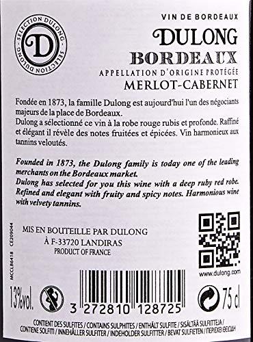 Dulong Bordeaux Aop Merlot Cabernet 6 X 75 Cl